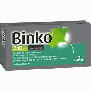 Abbildung von Binko 240 Mg Filmtabletten  30 Stück