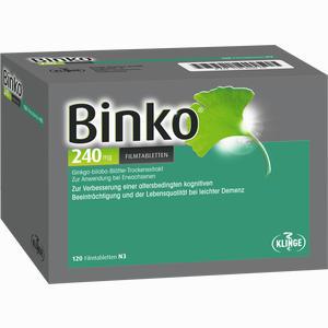 Abbildung von Binko 240 Mg Filmtabletten  120 Stück