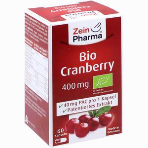 Abbildung von Bio Cranberry Vegi Kapseln 400mg  60 Stück