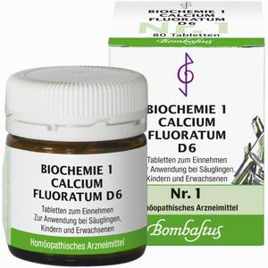 Abbildung von Biochemie 1 Calcium Fluoratum D6 Tabletten 80 Stück