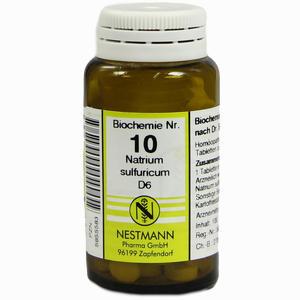 Abbildung von Biochemie 10 Natrium Sulfuricum D6 Tabletten 100 Stück