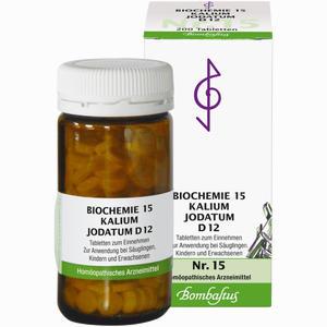 Abbildung von Biochemie 15 Kalium Jodatum D12 Tabletten Bombastus 200 Stück