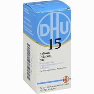 Abbildung von Biochemie 15 Kalium Jodatum D12 Tabletten Dhu-arzneimittel 80 Stück