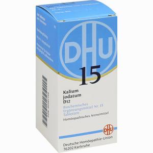 Abbildung von Biochemie 15 Kalium Jodatum D12 Tabletten Dhu-arzneimittel 200 Stück