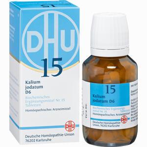 Abbildung von Biochemie 15 Kalium Jodatum D6 Tabletten Dhu-arzneimittel 200 Stück
