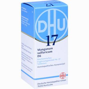 Abbildung von Biochemie 17 Manganum Sulfuricum D6 Tabletten Dhu-arzneimittel 80 Stück