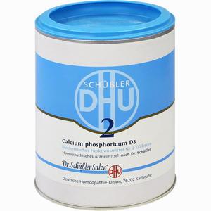 Abbildung von Biochemie 2 Calcium Phosphoricum D3 Tabletten Dhu-arzneimittel 1000 Stück