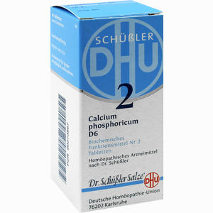 Abbildung von Biochemie 2 Calcium Phosphoricum D6 Tabletten Dhu-arzneimittel 80 Stück