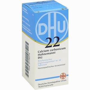 Abbildung von Biochemie 22 Calcium Carbonicum D12 Tabletten Dhu-arzneimittel 80 Stück