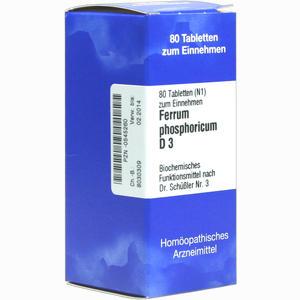 Abbildung von Biochemie 3 Ferrum Phosphoricum D3 Tabletten Iso-arzneimittel 80 Stück