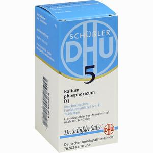 Abbildung von Biochemie 5 Kalium Phosphoricum D3 Tabletten Dhu-arzneimittel 200 Stück