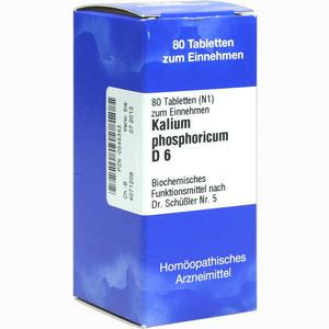 Abbildung von Biochemie 5 Kalium Phosphoricum D6 Tabletten Iso-arzneimittel 80 Stück