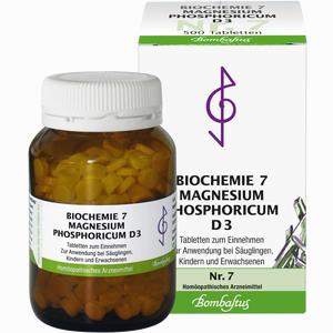 Abbildung von Biochemie 7 Magnesium Phosphoricum D3 Tabletten 500 Stück