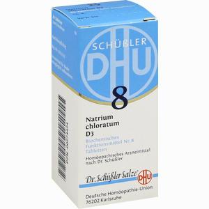 Abbildung von Biochemie 8 Natrium Chloratum D3 Tabletten Dhu-arzneimittel 80 Stück