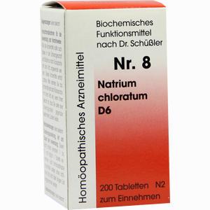 Abbildung von Biochemie 8 Natrium Chloratum D6 Tabletten Dr. reckeweg & co 200 Stück