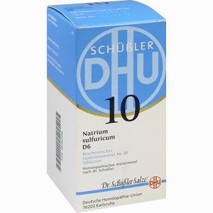 Abbildung von Biochemie Dhu 10 Natrium Sulfuricum D6 Tabletten  420 Stück