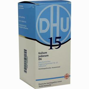 Abbildung von Biochemie Dhu 15 Kalium Jodatum D6 Tabletten  420 Stück