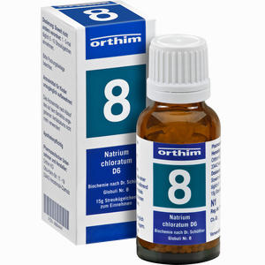 Abbildung von Biochemie Globuli Nr. 8 Natrium Chloratum D6  15 g