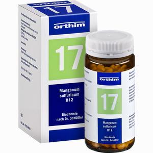 Abbildung von Biochemie Orthim Nr.17 Manganum Sulfuricum D12 Tabletten 400 Stück