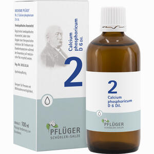 Abbildung von Biochemie Pflüger Nr. 2 Calcium Phosphoricum D6 Tropfen 100 ml