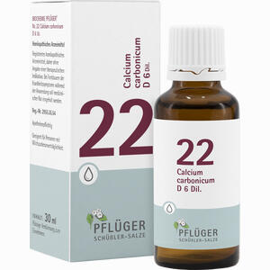 Abbildung von Biochemie Pflüger Nr. 22 Calcium Carbonicum D6 Tropfen 30 ml
