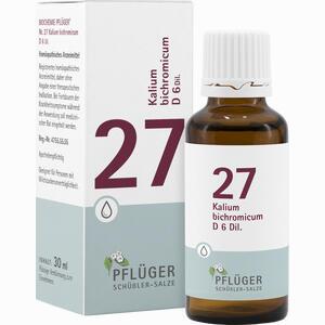Abbildung von Biochemie Pflüger Nr.27 Kalium Bichromicum D6 Tropfen 30 ml
