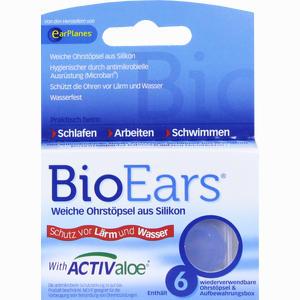 Abbildung von Bioears Antimikrobielle Silikon- Ohrstöpsel 6 Stück