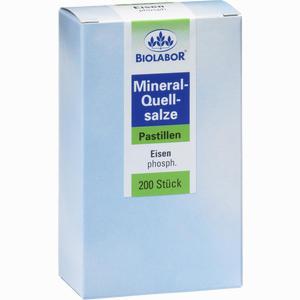 Abbildung von Biolabor Mineral- Quellsalze Eisenphosphat Pastillen 750 Stück