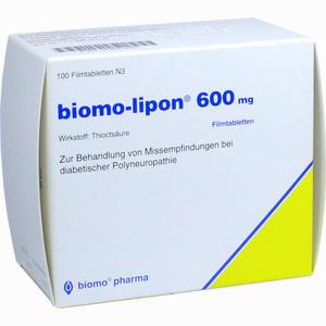Abbildung von Biomo Lipon 600 Filmtabletten 100 Stück