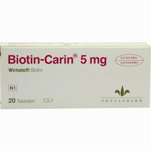 Abbildung von Biotin- Carin 5 Mg Lactose- Glutenfrei Tabletten 20 Stück