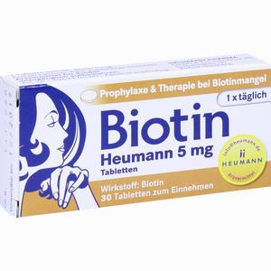Abbildung von Biotin Heumann 5mg Tabletten  30 Stück