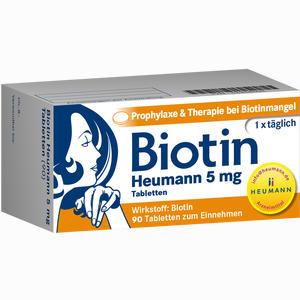 Abbildung von Biotin Heumann 5mg Tabletten  90 Stück