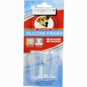 Abbildung von Bogadent Silicone Finger Vet. Zahnbürste 2 Stück
