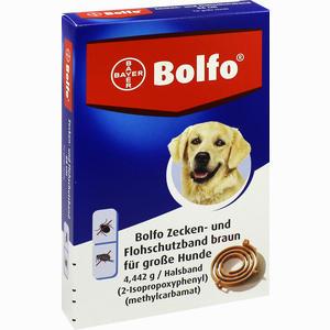 Abbildung von Bolfo Flohschutzband Braun für Hunde Halsband 1 Stück