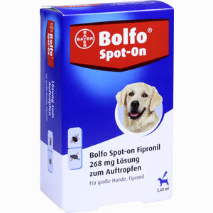 Abbildung von Bolfo Spot- On Fipronil für Große Hunde 268 Mg Lösung 3 Stück