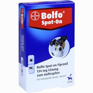 Abbildung von Bolfo Spot- On Fipronil für Mittelgr. Hunde 134 Mg Lösung 3 Stück