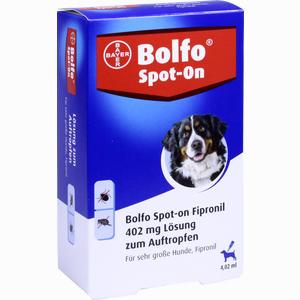 Abbildung von Bolfo Spot- On Fipronil für Sehr Große Hunde 402 Mg Lösung 3 Stück