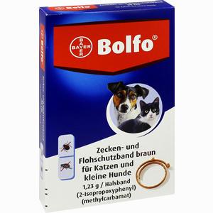 Abbildung von Bolfo Zecken- und Flohschutzband Braun für Katzen und Kleine Hunde 1 Stück
