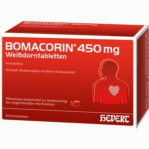 Abbildung von Bomacorin 450mg Weißdorntabletten Filmtabletten 200 Stück