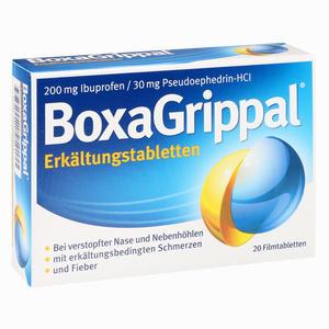 Abbildung von Boxagrippal Erkältungstabletten 200mg/30mg Filmtabletten 20 Stück