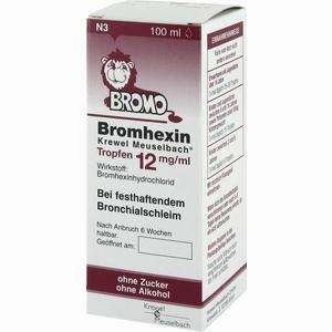 Abbildung von Bromhexin Krewel Meuselbach Tropfen 12mg/ml  100 ml