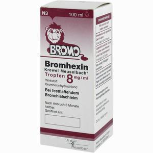 Abbildung von Bromhexin Krewel Meuselbach Tropfen 8mg/ml  100 ml