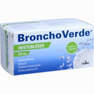 Abbildung von Bronchoverde Hustenlöser 50mg Brausetabletten  20 Stück