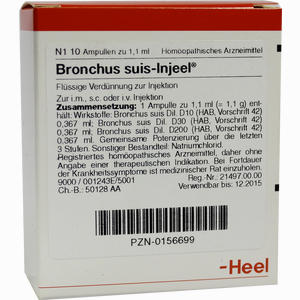 Abbildung von Bronchus Suis- Injeel Ampullen  10 Stück
