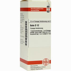 Abbildung von Bufo D12 Dilution 20 ml