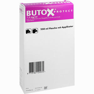 Abbildung von Butox Protect 7.5mg/ml Pour On Suspension Zum übergießen Vet Lösung 250 ml