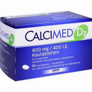 Abbildung von Calcimed D3 600mg/400 I.e. Kautabletten  96 Stück