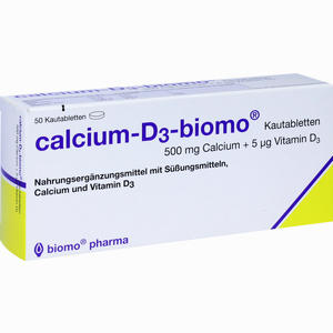Abbildung von Calcium- D3- Biomo Kautabletten 500+d  50 Stück