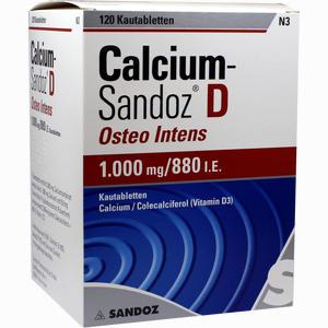 Abbildung von Calcium- Sandoz D Osteo Intens Kautabletten  120 Stück