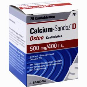 Abbildung von Calcium- Sandoz D Osteo Kautabletten 20 Stück